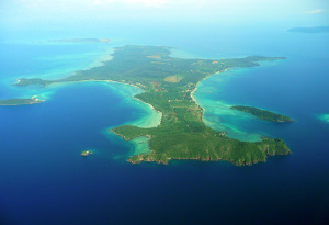 Flygbild över Koh Mak